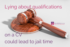 Lying about qualifications on a CV could lead to jail time