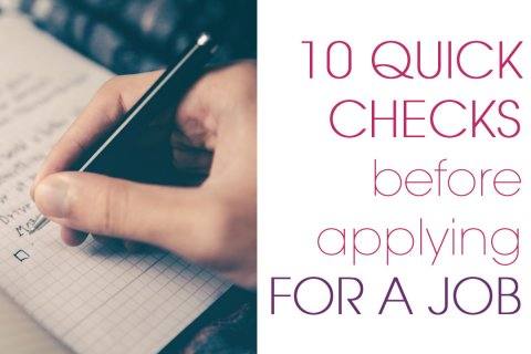 10 Quick Checks Before Applying For A Job
