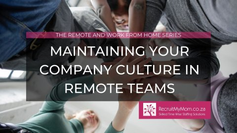 Maintaining your company culture in remote teams
