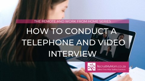 How to conduct a successful telephone and video interview