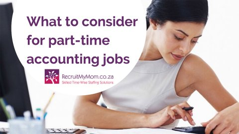 What to consider when taking on part-time accounting jobs in South Africa
